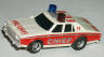 AFX Chevy Fire Chief car, white with red.