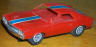 Revell AMX 1/32 scale slot car in red.